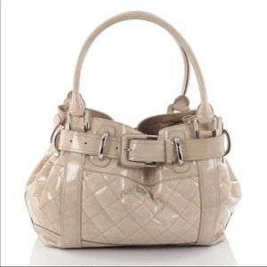 Burberry Patent Leather Beaton Bag